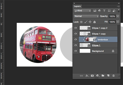 Circular Photoshop Clipping Mask