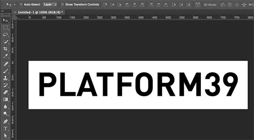 Photoshop Text Clipping Mask
