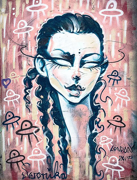 alien woman street art corrected