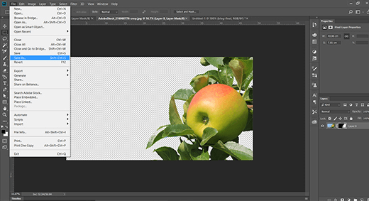 Re-save your image as a Photoshop .psd file so you can return to it and make further changes later if you wish.