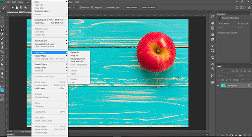The Photoshop image background here is a more complex pattern or spectrum of shades